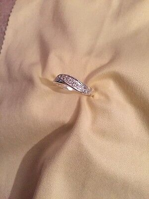Brilliant Created 1.5ct White Gold 18k Engagement Ring Size O
