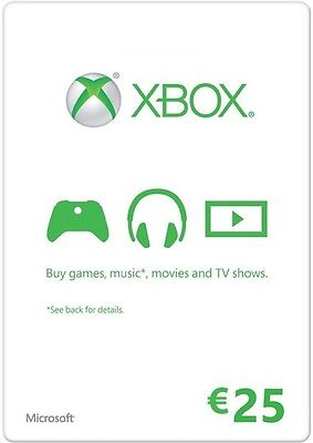 €25 XBOX Live 25 EUR credit / gift card