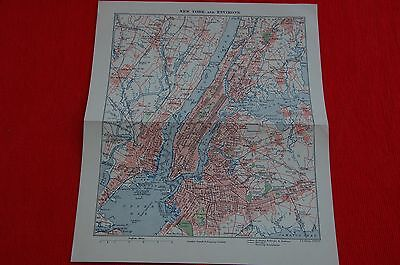 1800s Map New York & Environs F.S. Weller F.R.G.S.