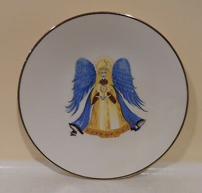 Hutshenreuther Germany Christmas Gold trim Angel Plate