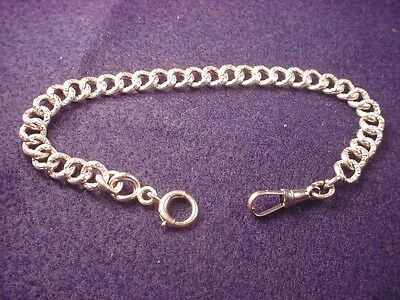 Sterling Silver 9 Inch Pocket Watch Chain--Outstanding Vintage Silver Chain!#106