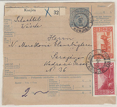 Bosnia 1906, Address Card for package, With H 10 + 40