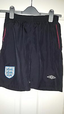 Boys Football Shorts - England National Team - Training 2009-2010 - Umbro - MB