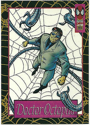 1994 SPIDER - MAN  Fleer cards Suspended animation card DOCTOR OCTOPUS #9 of 12