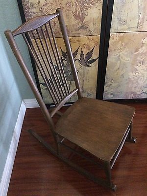Antique Small Phoenix Chair Co Rocking Chair-Arts & Crafts style