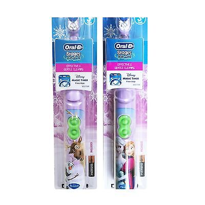 Oral B stages disney frozen Elsa/Anna Olaf/Sven kids battery toothbrush 3+