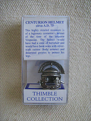 *Collectable* - Lead-free pewter Centurion`s Helmet thimble - boxed -
