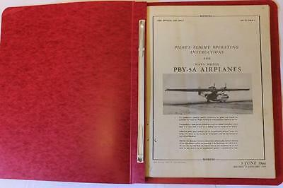 Original 1945 Pby-5A Catalina Amphibian Pilots Flight Manual Aircraft Handbook