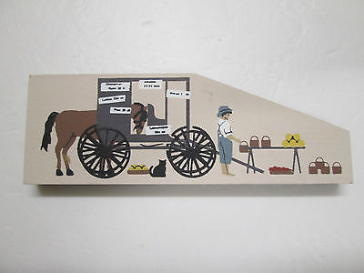 Cat's Meow Amish Horse And Buggy Vegetable Stand With Child 1994.