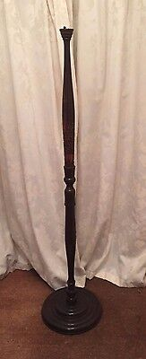Carved Oriental Asian Chinese/Japanese Wooden Standard Floor Lamp Base