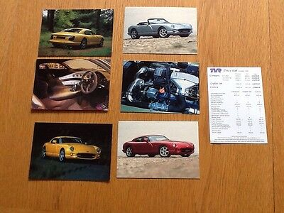 6 TVR Postcard Style Leaflet Brochures plus Price List