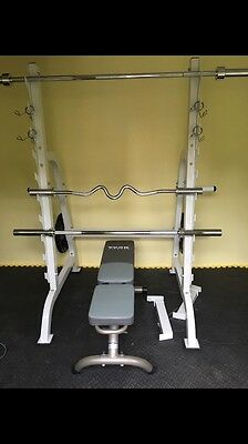 HEAVY DUTY OLYMPIC BARBELL DUMBBELL WEIGHTS POWER RACK ONLY (no other equipment)
