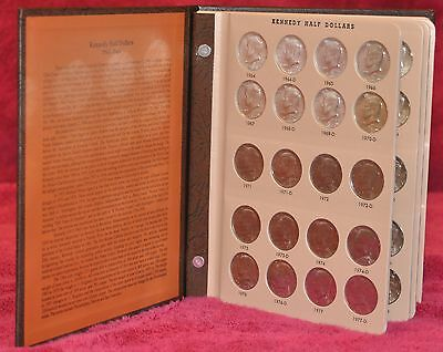 1964-2016 COMPLETE KENNEDY HALF DOLLAR UNCIRCULATED SET (98 Coins) in Dansco Alb