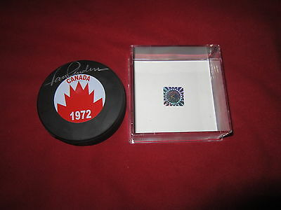 Paul Henderson Signed Summit Series Puck Canada Coa Holo Autographed