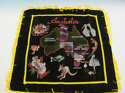 Hand Painted And Stitched Pillow Sham Souvenir From Australia 48yrs Old