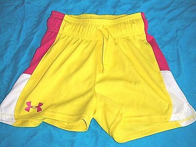 Under Armour  Unisex Youth Size Ysm Polyester Yellow Shorts  Everyday Sports