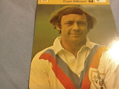 New Roger Millward very rare rugby legend factcard