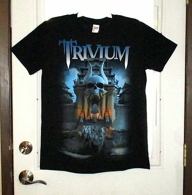Nwot Trivium World Tour 2015-2016 Silence In The Snow  2 Sided T-Shirt Size L