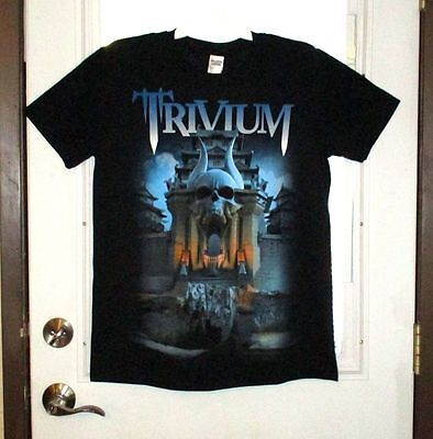 Nwot Trivium World Tour 2015-2016 Silence In The Snow  2 Sided T-Shirt Size M