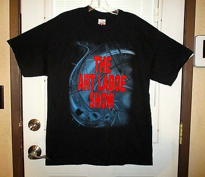 "Nwot ""the Art Laboe Show"" Black Double Sided Full Color Back Size L Fast Ship!"