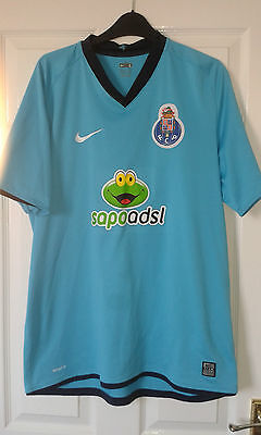 Mens Football Shirt - FC Porto - Away 2008 L - Turquoise - Nike - RARE SPONSOR