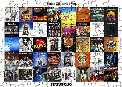 PERSONALISED STATUS QUO  JIGSAW PUZZLE A4 120 PIECE Great Gift Idea  Free PP