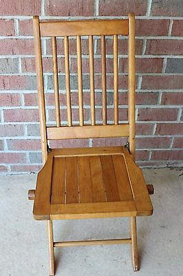 Vintage Wooden Folding Chair Excellent Re-enactor Chair Outdoor