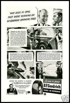 1943 vintage ad for BF Goodrich Tires