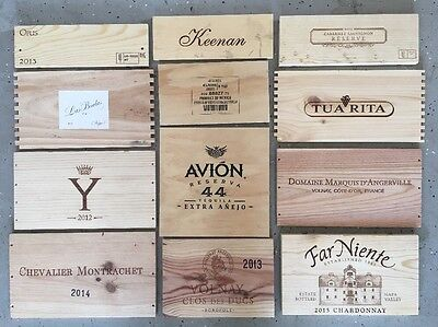 12 French Napa Wood Wine Box Panels lot Crate ends, lid . Advertising Tequila