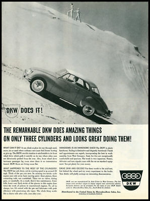 1959 vintage ad for DKW automobiles