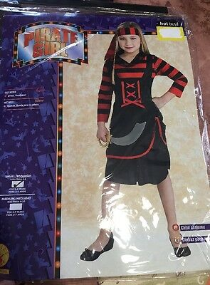 Girls Pirate Costume - Size Small 4-6 Ages 3-4