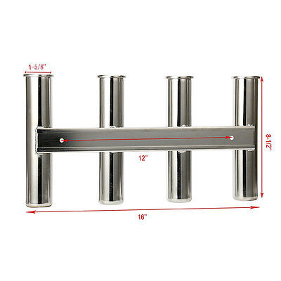 4 Rod Rack, Mirror Finish Stainless Steel 316, Stainless 4 Rod Rack, New