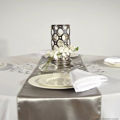 Grey satin table runners lot of 6 new wedding decor party event