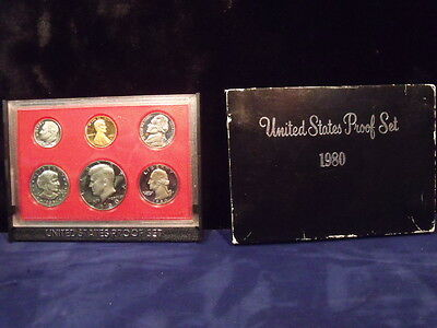 1980 U.S.Proof Set - In Original Box   FREE SHIPPING
