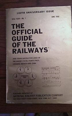 100th Anniversary, The Official Guide of the Railways June 1968-101st Year Vol 1