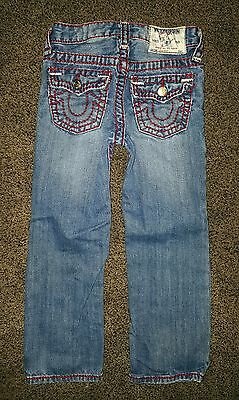True Religion Boys Bootcut Red Stitched Jeans - Size 5