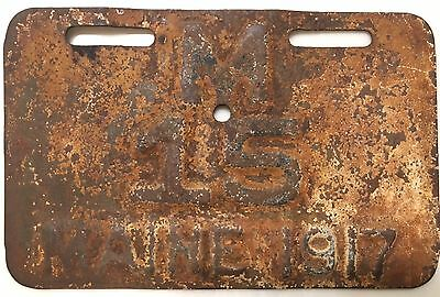 *1917* Maine Motorcycle License Plate