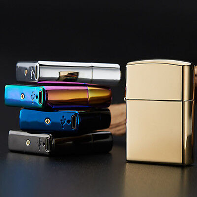 USB Rechargeable Pulse Arc Cigarette Lighter Electric Windproof Plasma Torch 1PC