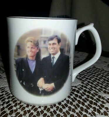 "1986 Prince Andrew - Sarah ""fergie"" Ferguson Royal Wedding Commemorative Cup"
