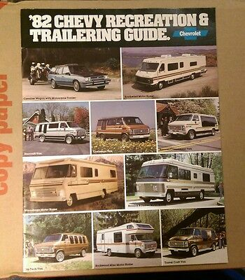 1982 Chevrolet Recreation & Trailering Towing guide dealer brochure RV GM tow
