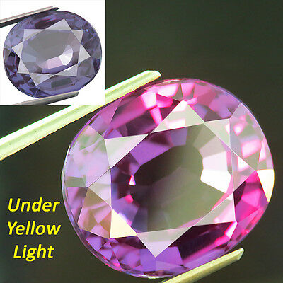 18.05ct. LAB CREATED AWESOME CZOCHRALSKI COLOR CHANGE ALEXANDRITE OVAL 14x16 MM