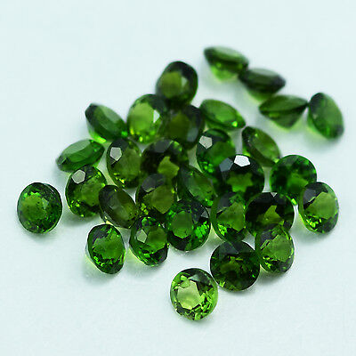 Unheated Nice Qty Chrome Diopside Parcel Rd 3 Mm 30 Pieces 3.30 Cts From Russia