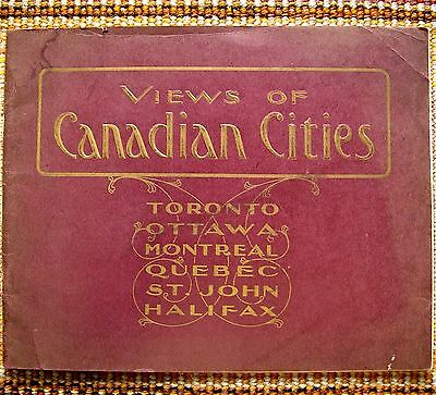 1905 Views of Canadian Cities Toronto Ottawa Montreal Quebec St John Halifax VTG