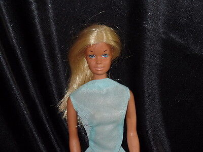 Vintage Mattel Barbie Doll 1970s With Malibu Suit and Towel