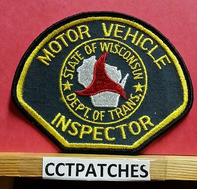 Wisconsin Motor Vehicle Inspector (Police) Shoulder Patch Wi
