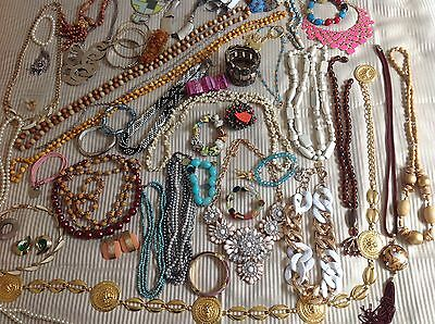 ref JED2) Estate Fashion Jewellery, Statement Necklaces, Worry Beads, Bangles