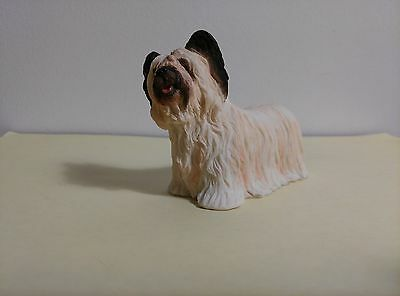 "Skye Terrier Dog Figurine, 3"" to 4"", New, Hand Painted"