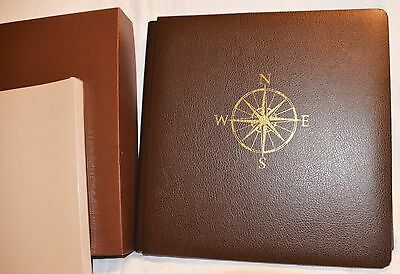 Creative Memories Leather 12x12 Brown Journey Album + Pages & Protectors NEW!