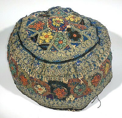 Antique Tekke Turoman Embroidered Hat Central Asia