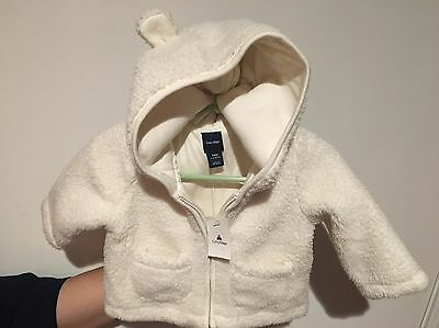 Baby Gap 3-6 Months  Hooded Zip Up sweater Jacket